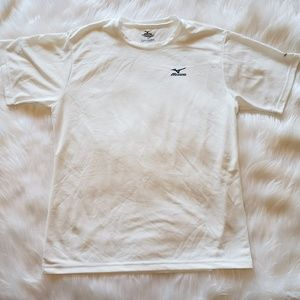 NWOT Mizuno Dryscience White Workout Tee, M